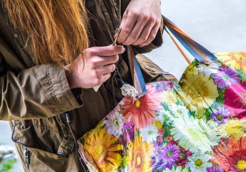DIY Tote Bag Handsewn