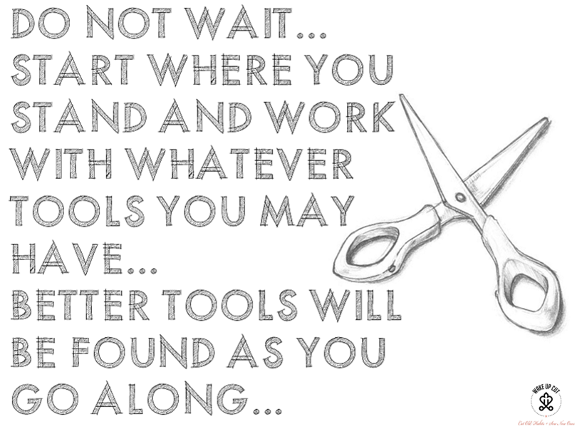 wakeup cut tools-never wait