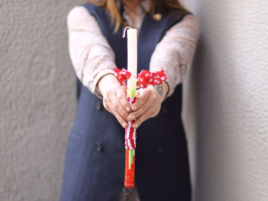 DIY easter candles